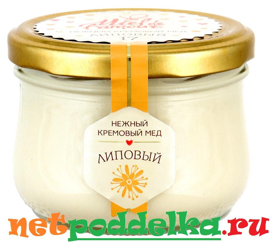 Мед с красителем, придающим чрезмерно белый цвет