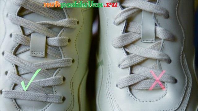 Сравнение схем шнуровки