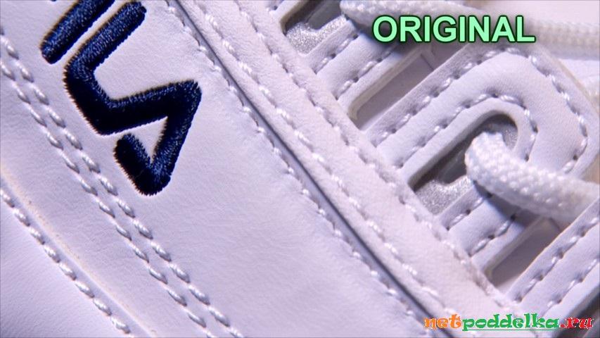 Рефлективные вставки в области шнуровки