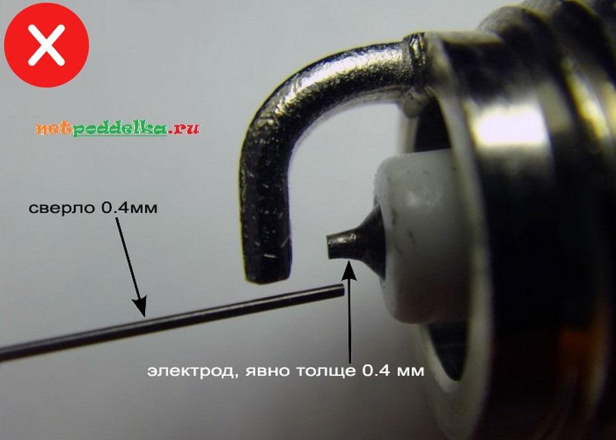 Сравнение со сверлом 0.4 мм