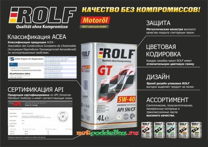 Краткое описание масла ROLF
