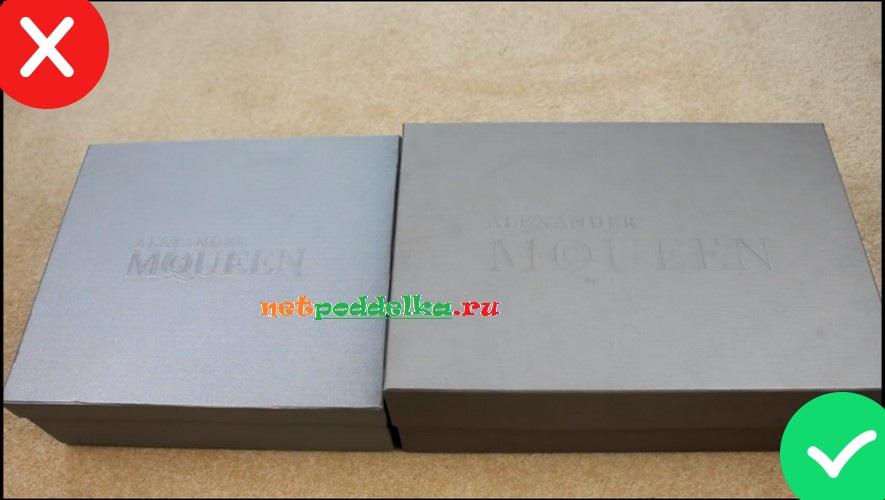 Сравнение цвета и размера коробок
